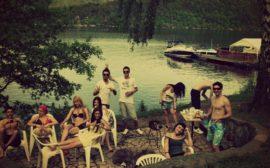 Erasmus arkadaşlarımla birlikte kamp / Slapy-Çek Cumhuriyeti 2012..
