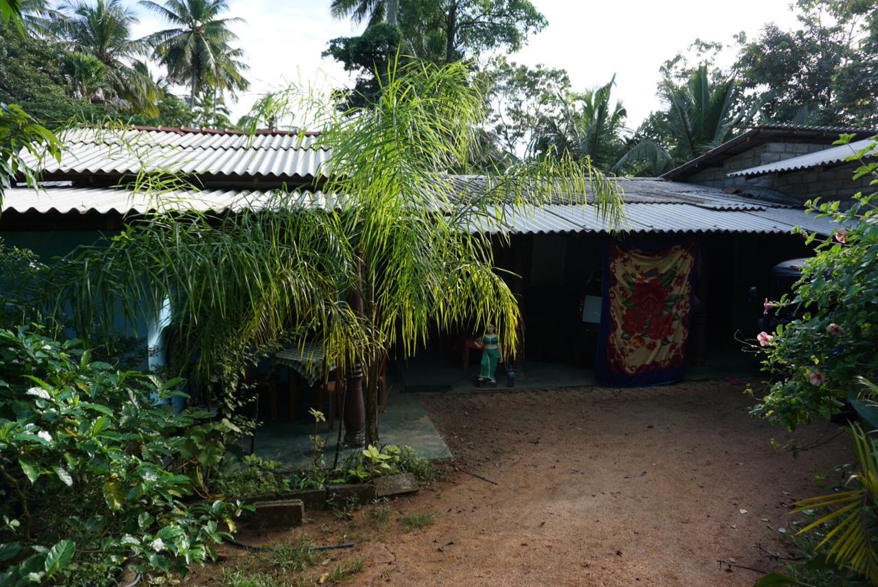 Sigiriya köyüne kaldığım evin girişi..