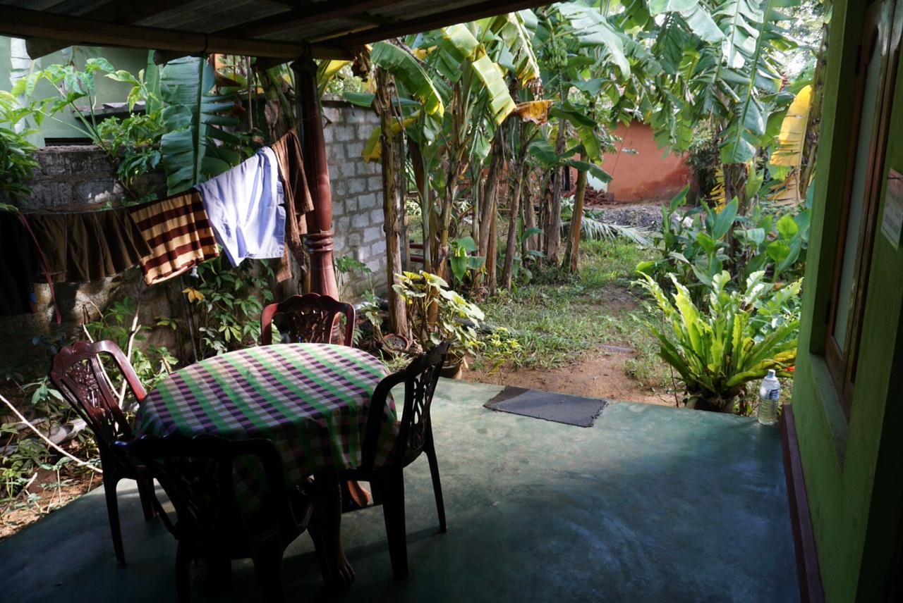 Kaldığım aile evindeki odamın bahçesi