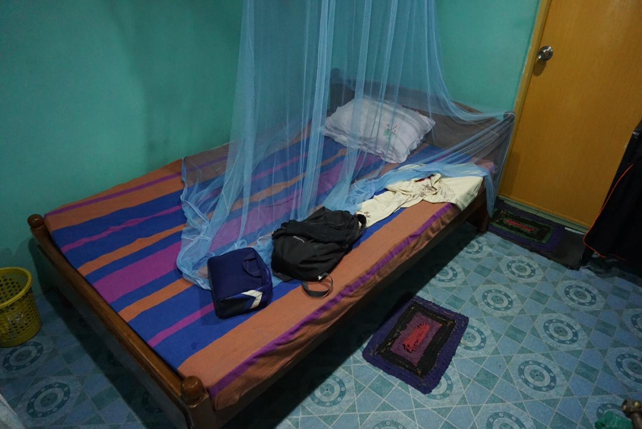 Sigiriya köyünde kaldığım oda