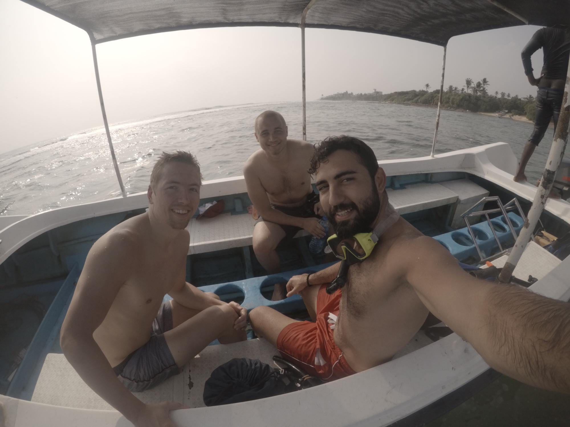 Norveçli Helijar ve Johan ile birlikte / Mirissa / Sri Lanka