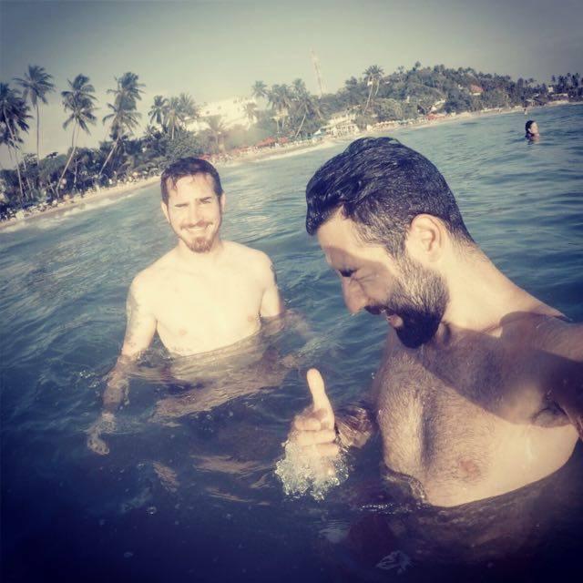 Fabian ile birlikte / Mirissa Beach / Sri Lanka